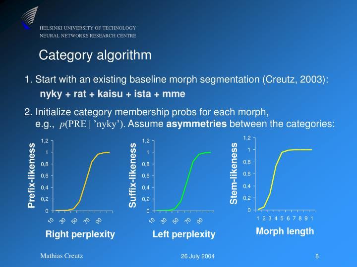 1. Start with an existing baseline morph segmentation (Creutz, 2003):