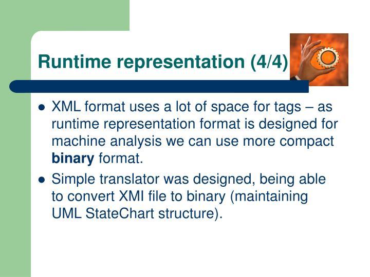 Runtime representation (4/4)