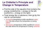 le ch telier s principle and change in temperature1