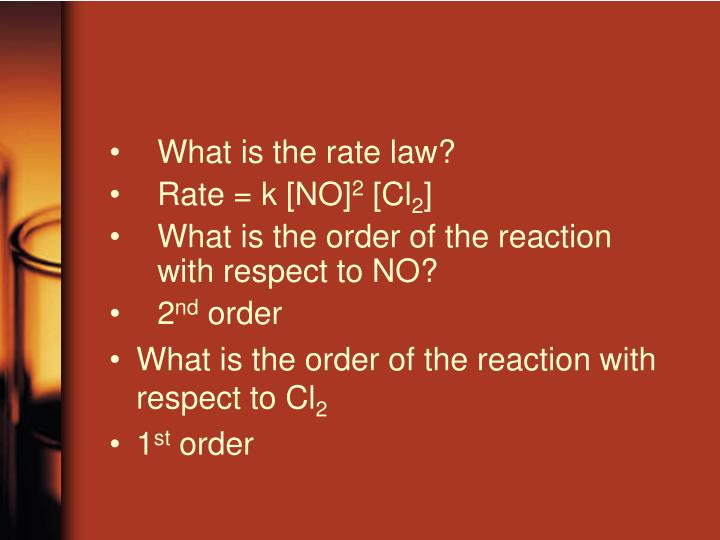 What is the rate law?