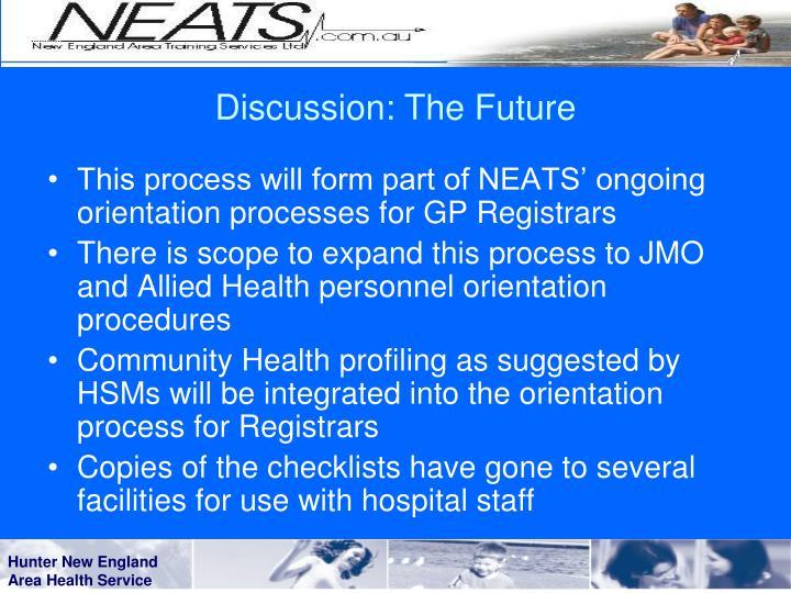 Discussion: The Future