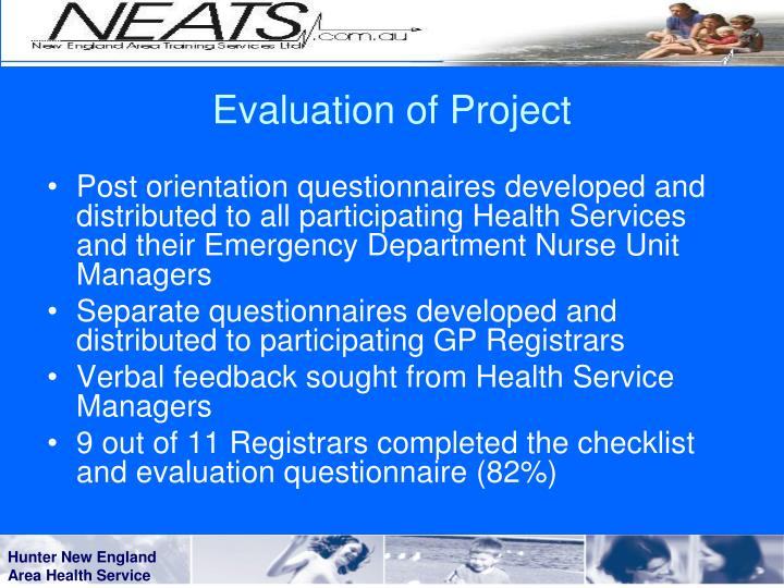 Evaluation of Project