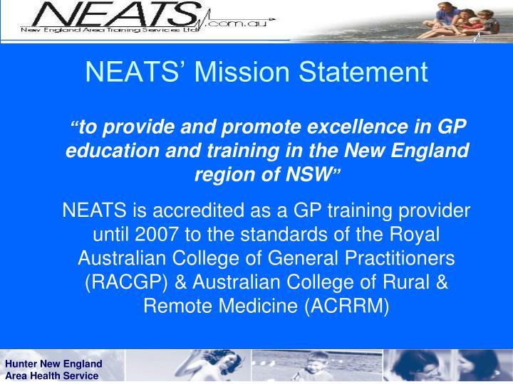 Neats mission statement