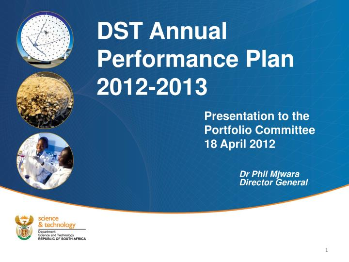 presentation to the portfolio committee 18 april 2012 n.