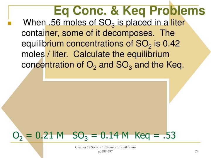 Ppt Chemical Equilibrium Chapter 18 Modern Chemistry Powerpoint. Keq Problems. Worksheet. Ap Chemistry Worksheet Keq Questions At Clickcart.co