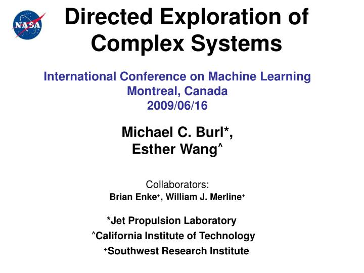 directed exploration of complex systems n.