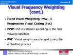 visual frequency weighting cont