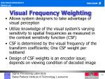 visual frequency weighting