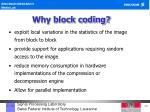 why block coding