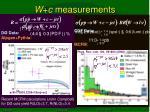w c measurements1