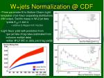 w jets normalization @ cdf