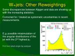 w jets other reweightings