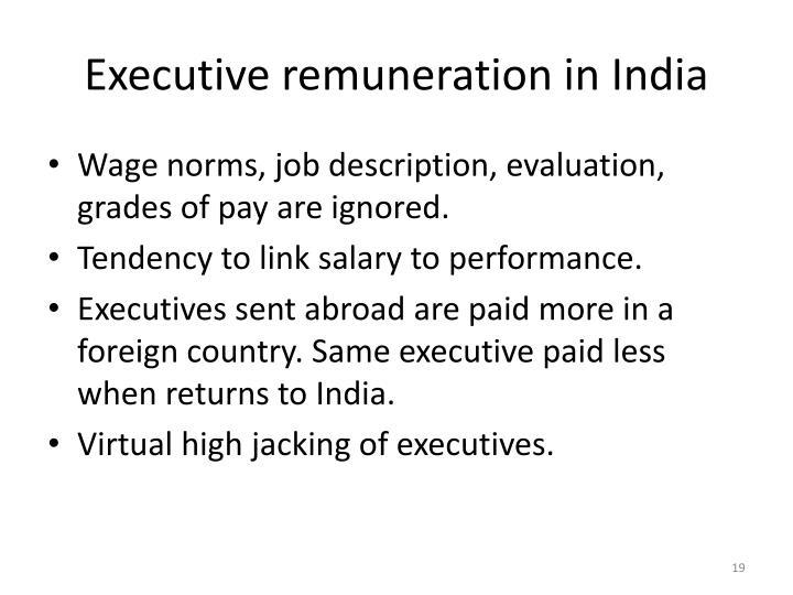 Executive remuneration in India