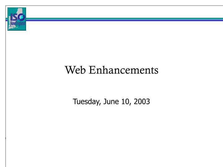 web enhancements n.