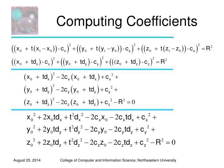 Computing Coefficients