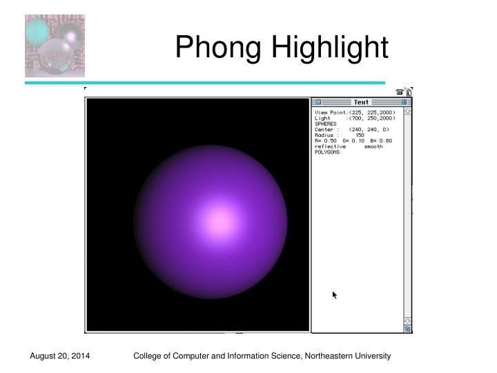 Phong Highlight