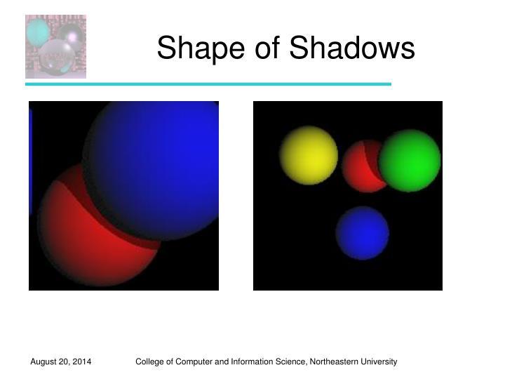 Shape of Shadows