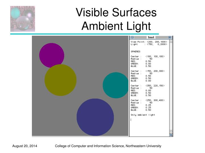 Visible Surfaces