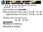 16 1 reversible reactions