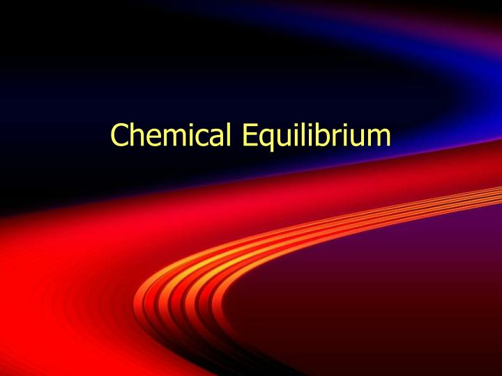 chemical equilibrium n.