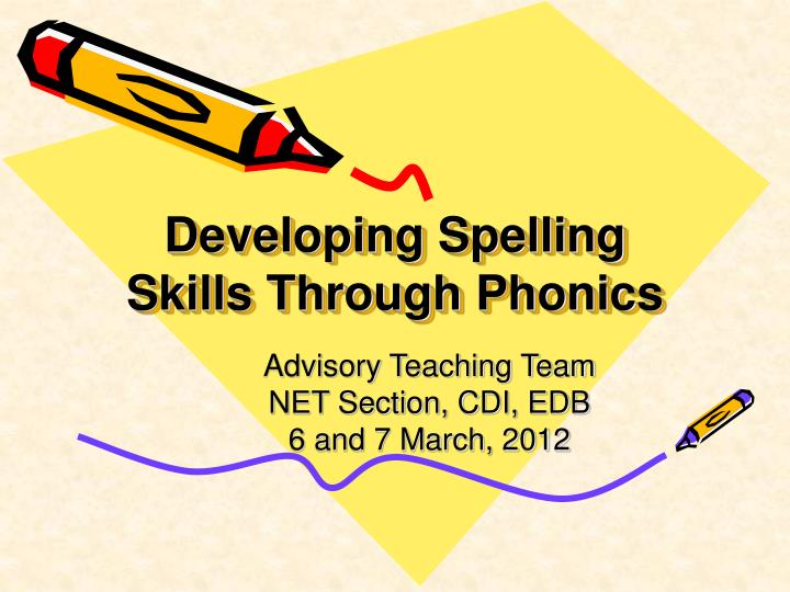 developing spelling skills through phonics n.