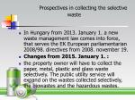 prospectives in collecting the selective waste