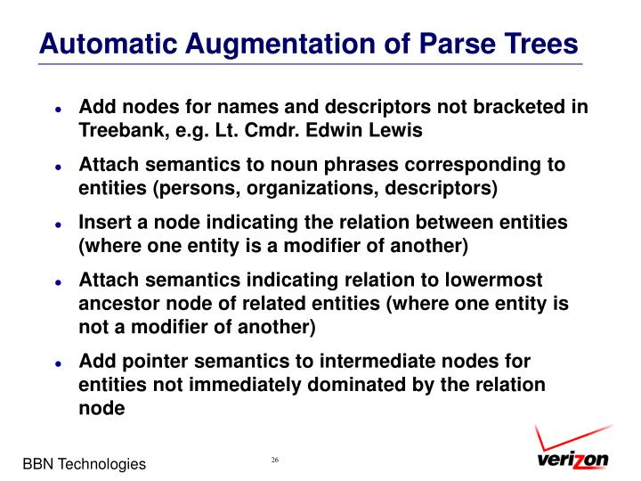 Automatic Augmentation of Parse Trees