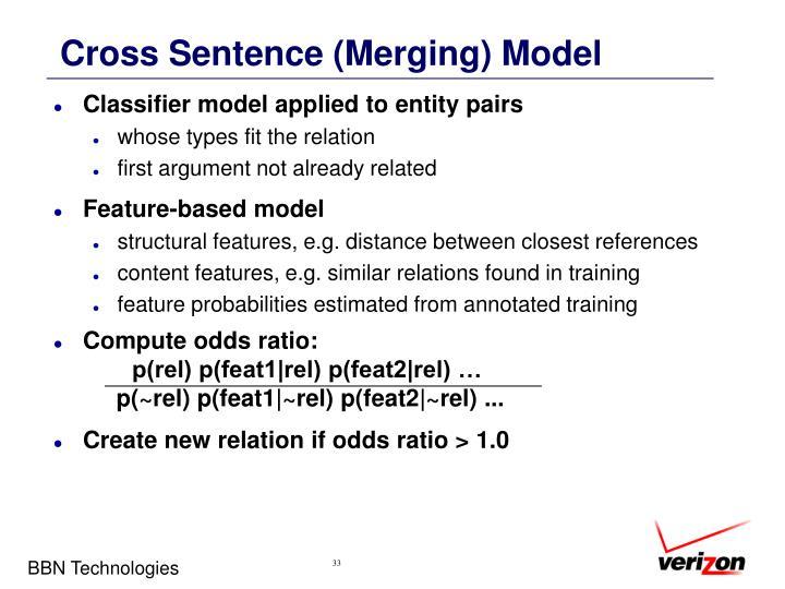 Cross Sentence (Merging) Model