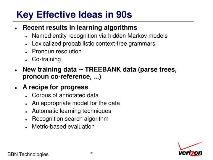 Key Effective Ideas in 90s