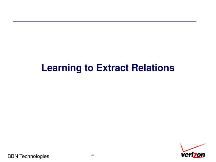 Learning to Extract Relations