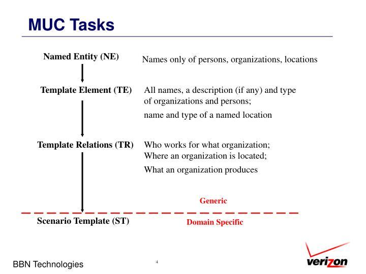 MUC Tasks