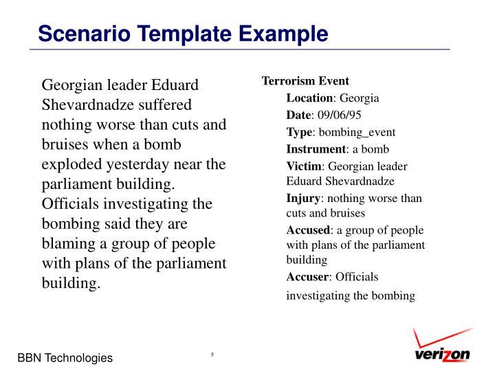 Scenario Template Example