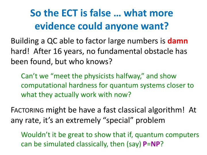 So the ECT is false … what more evidence could anyone want?