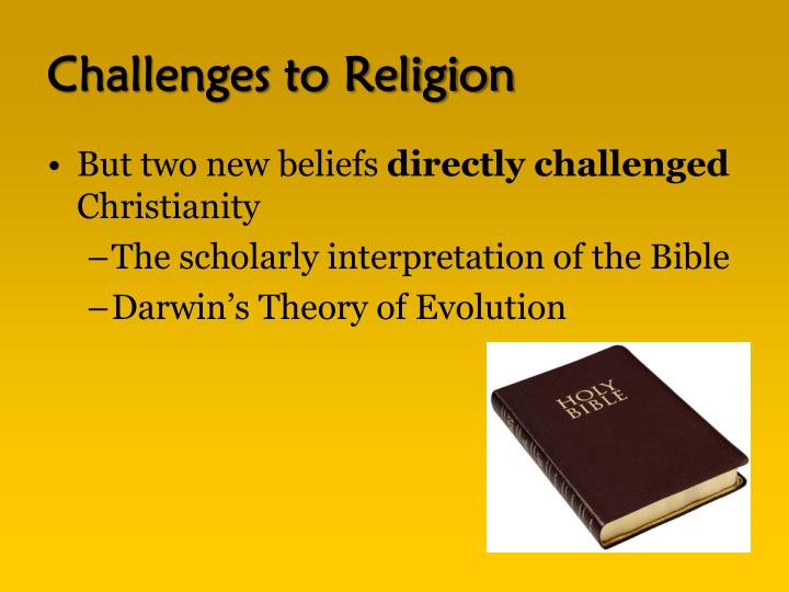 Challenges to Religion