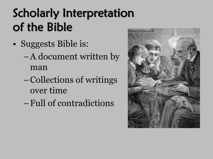 Scholarly Interpretation