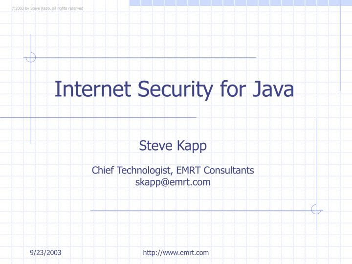 ppt - internet security for java powerpoint presentation - id:3326294, Powerpoint templates