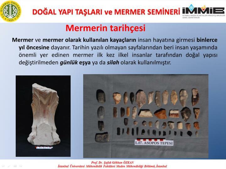 Mermerin tarihçesi