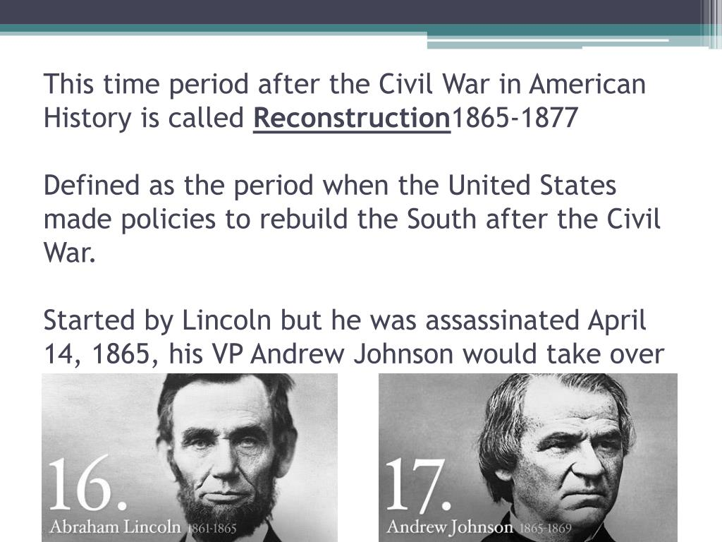 PPT - Reconstruction Period 1866-1877 PowerPoint ...