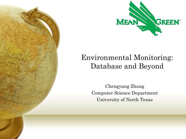 environmental monitoring database and beyond n.