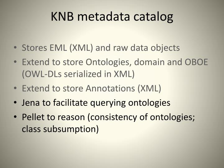 KNB metadata catalog