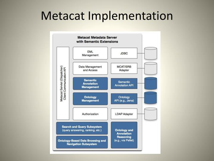 Metacat Implementation