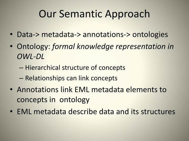 Our Semantic Approach