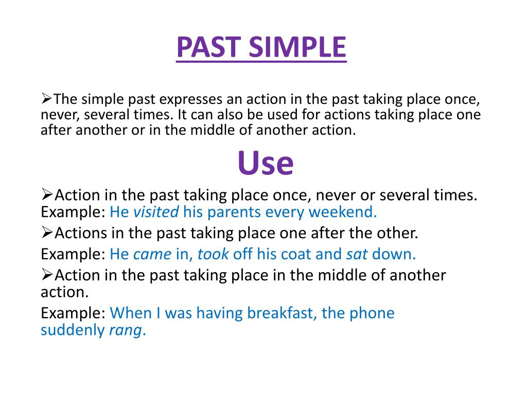 Simple Past Be