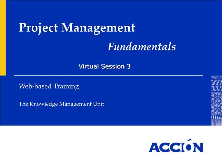 project management fundamentals n.