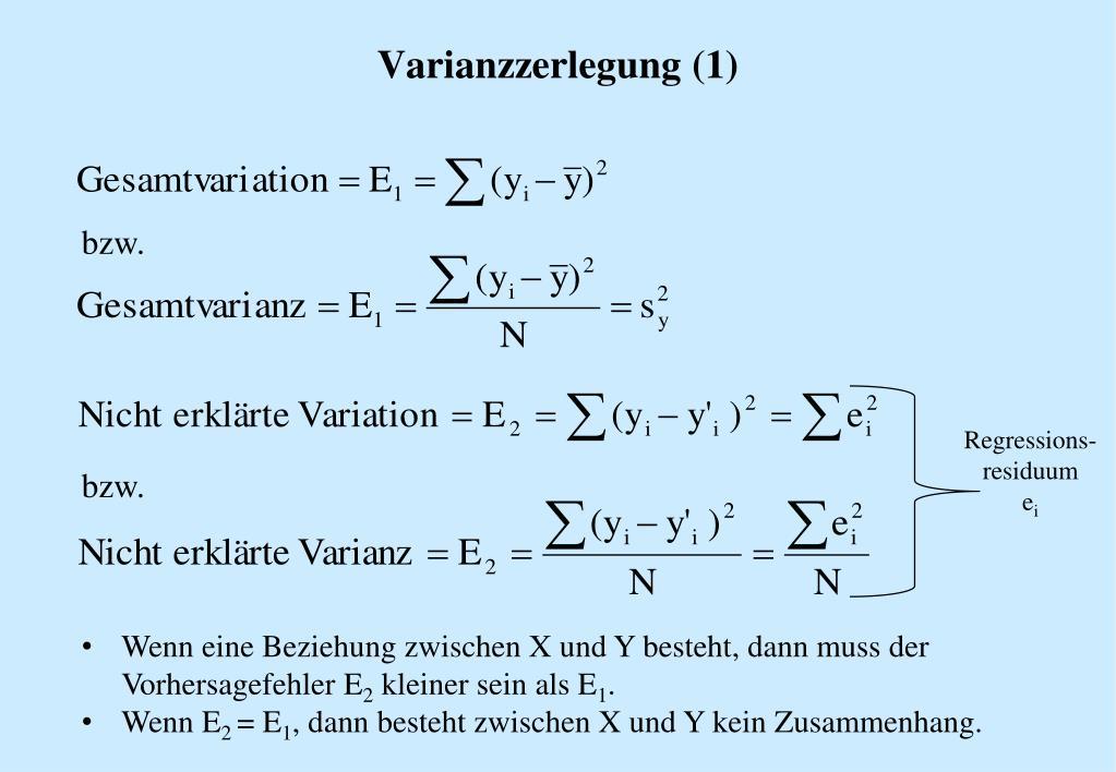 erklärte varianz