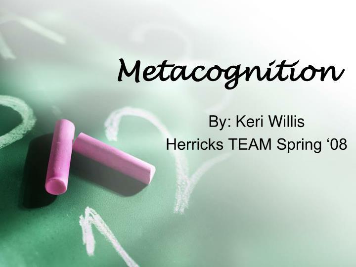 metacognition n.