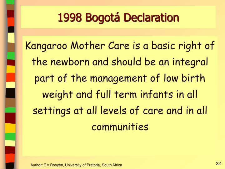 1998 Bogotá Declaration