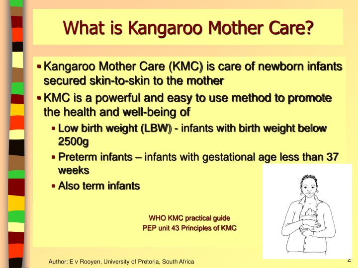 What is kangaroo mother care