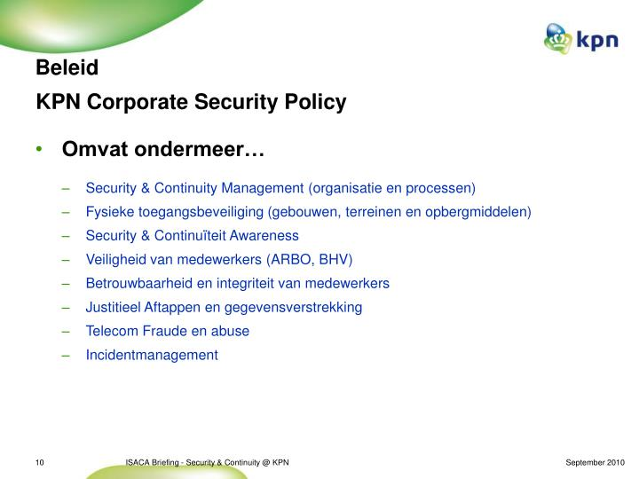 KPN Corporate Security Policy