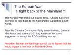 the korean war fight back to the mainland